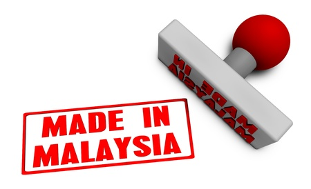 Made in Malaysia Stamp or Chop on Paper Concept in 3d photo