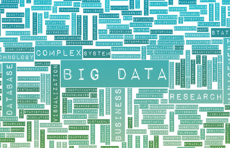 Big Data as a Technology Concept Overview Art photo