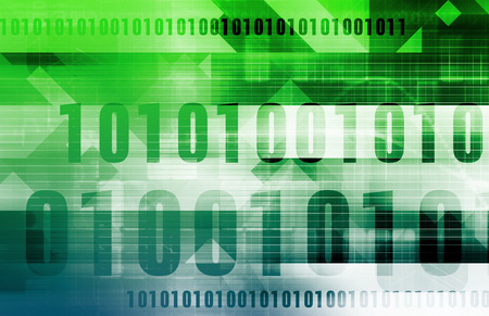 binary data: Technology Abstract with Binary Data Moving as Art Stock Photo