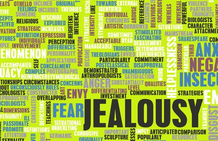 celos: Los celos como una emoción negativa Concept Art