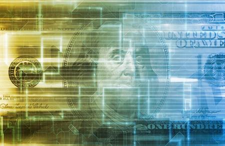 finance background: Digital US Dollar or Online Currency Background