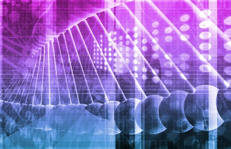 nucleotide: Medical Genetics or Genetic DNA Abstract Image