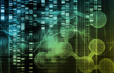 nanotech: Genetic Science Research as a Medical Abstract Art Stock Photo
