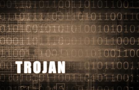 cavallo di troia: Cavallo di Troia attacco su un Digital Binary Warning astratta