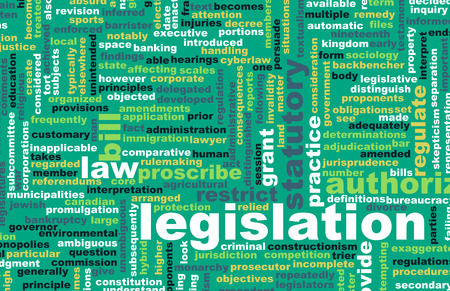 legislation: Legislation or Statutory Law as a Concept Stock Photo
