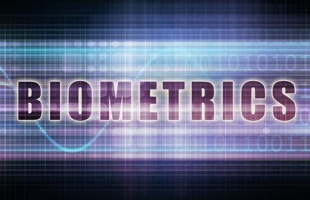 biometrics: Biometrics on a Tech Business Chart Art