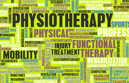 Physiotherapy as a Medical Career Concept Art Stockfoto