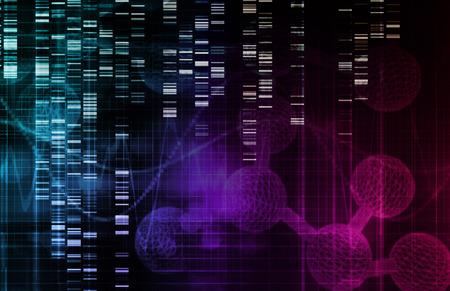 Genetischer Hintergrund mit DNA-Genom-Sequenz Kunst