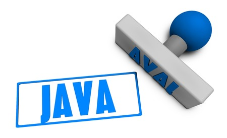 chop: Java Stamp or Chop on Paper Concept in 3d