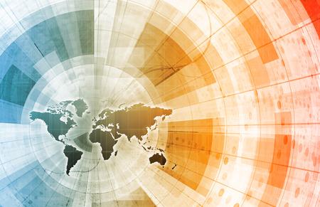 Communauté mondiale comme un Art Technology Concept