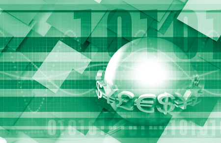 global currencies: Global Currencies as a Presentation Abstract for Money Stock Photo