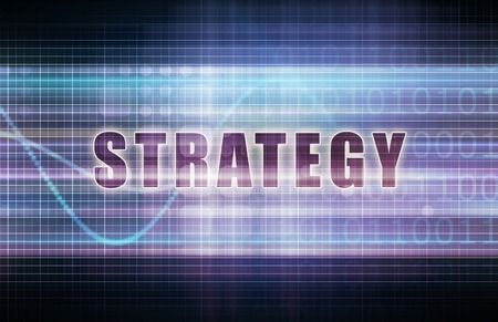 laser focus: Strategy on a Tech Business Chart Art Stock Photo