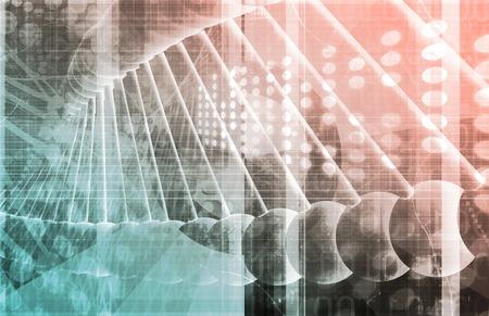 Génétique médicale ou génétique de l'ADN Résumé image Banque d'images