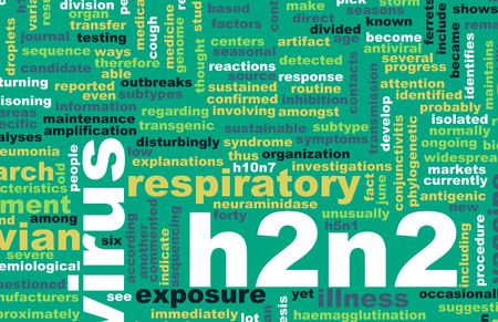 topic: H2N2 Concept as a Medical Research Topic Stock Photo