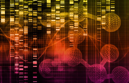 genetic information: Genetic Science Research as a Medical Abstract Art Stock Photo