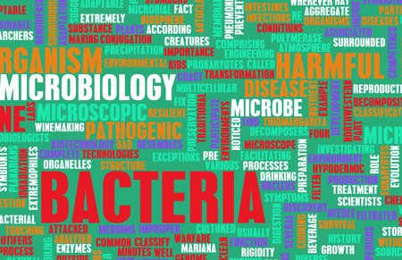 communicable: Bacteria and Hygiene Infection as a Concept Stock Photo