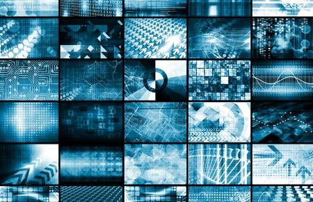 Integriertes Managementsystem und Technology Network als Kunst Lizenzfreie Bilder - 38681401