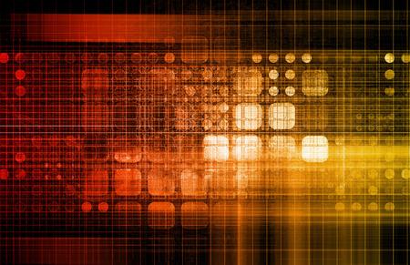 dataflow: Database Network Service Management Solutions as Art Stock Photo