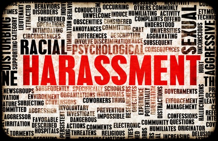 Harassment in its Many Forms and Types Standard-Bild