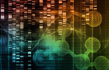 Fond génétique avec l'ADN séquence du génome Art Banque d'images