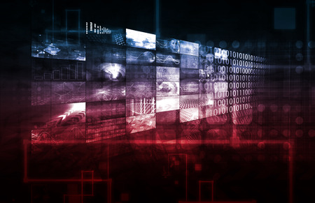 webhosting: Technology Infrastructure as a IT Abstract Art