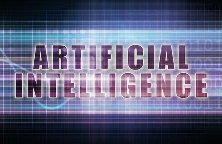 Artificial Intelligence on a Tech Business Chart Art photo