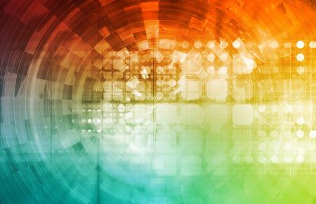 hightech: Modern Virtual Technology Background as a Art