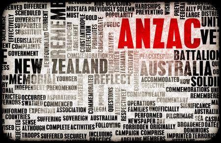 anzac: ANZAC Day for New Zealand and Australia Rememberance