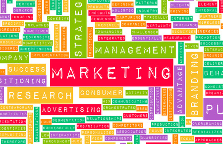 direct marketing: Branding and Marketing as a Business Concept Art Stock Photo