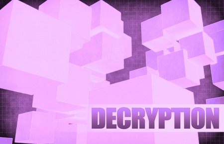 decryption: Decryption on Futuristic Abstract for Presentation Slide Stock Photo
