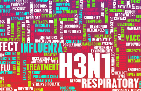containment: H3N1 Concept as a Medical Research Topic Stock Photo