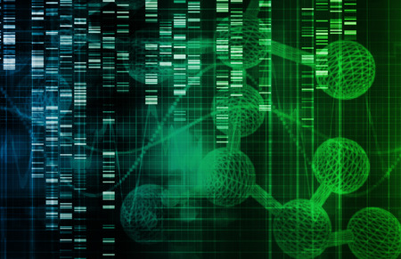 genetica: Sfondo genetico con il DNA Genome Sequence Art