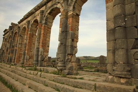 volubilis: Volubilis Roman City in Meknes, Morocco Stock Photo