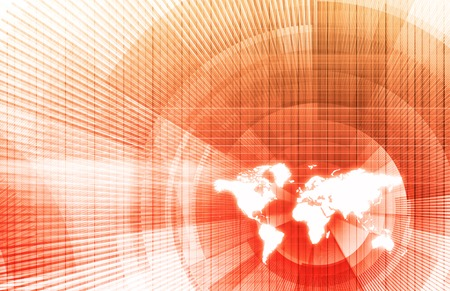 international money: Global Business Network with Modern Lines as Concept