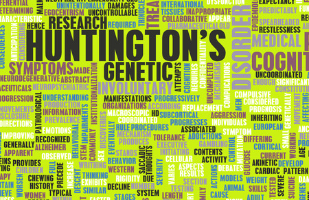 involuntary: Huntingtons or Huntingtons Disease as a Medical Diagnosis Stock Photo