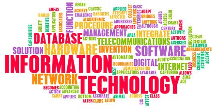 Information Technology or IT as a Career Industry Stock Photo