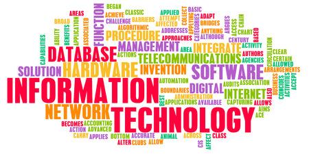 tecnologia informacion: Tecnolog�a de la Informaci�n o TI como Industria de Carreras Foto de archivo