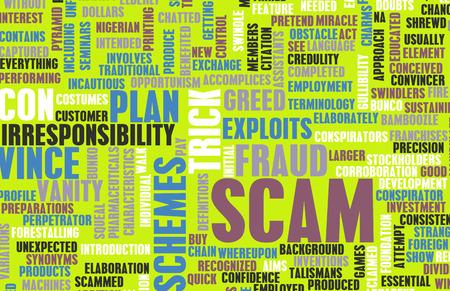 Scam or Scams Online on the Internet as Concept photo