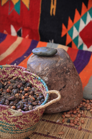 argan: Traditional Argan Press Used to Make Amlou