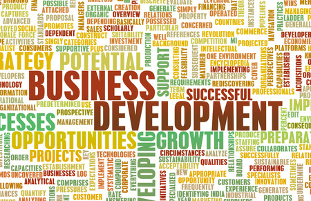 Business Development Major Punkte für einen Manager Standard-Bild - 39759536