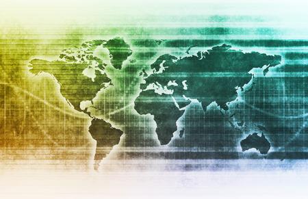 Global Investment in ausländische Unternehmen als Kunst Standard-Bild - 39759841