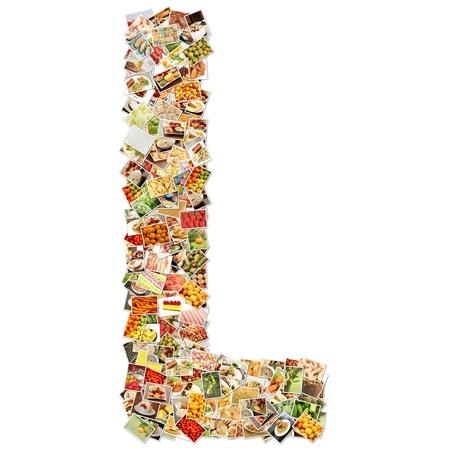 uppercase: Letter L Uppercase Font Shape Alphabet Collage