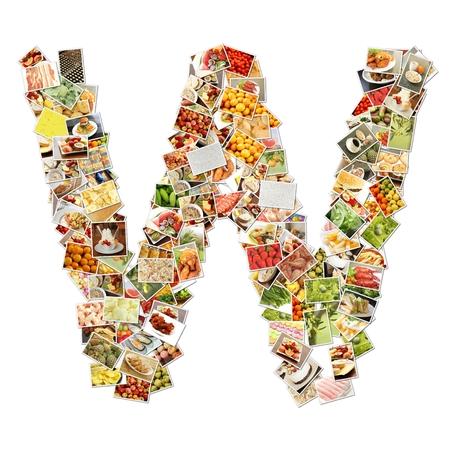 letter w: Letter W Uppercase Font Shape Alphabet Collage