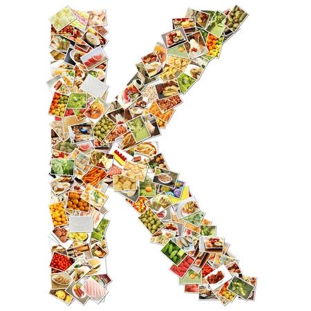 uppercase: Letter K Uppercase Font Shape Alphabet Collage