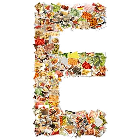 letter e: Letter E Uppercase Font Shape Alphabet Collage