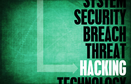 Hacking Computer Security Threat und Schutz Standard-Bild