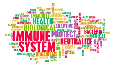 Immuunsysteem van een goed en gezond menselijk lichaam
