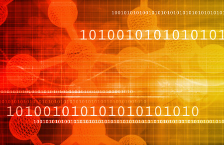 in number: Digital Science with Virtual Technology in Art Stock Photo