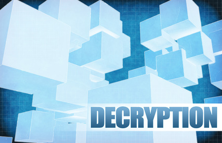 decryption: Decryption on Futuristic Abstract for Presentation Slide Stock Photo