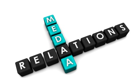 news event: Media Relations to the Public and Community Stock Photo